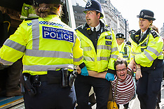 2019-04-18 Extinction Rebellion: police attempt to clear Oxford Circus