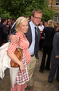 Mariella Frostrup and Jason McCrue, Lords v Commons tug-o-war in aid of Macmillan Cancer Relief,  Westminster. 22 June 2004. ONE TIME USE ONLY - DO NOT ARCHIVE  © Copyright Photograph by Dafydd Jones 66 Stockwell Park Rd. London SW9 0DA Tel 020 7733 0108 www.dafjones.com