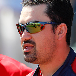 February 28, 2011; Fort Myers, FL, USA; Boston Red Sox first baseman Adrian Gonzalez (28) during a spring training exhibition game against the Minnesota Twins at City of Palms Park.  Mandatory Credit: Derick E. Hingle