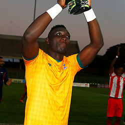 Richard Ofori Goalkeeper of Maritzburg Utd during the Premier Soccer League (PSL) promotion play-off  match between  Royal Eagles and Maritzburg United F.C. at the Chatsworth Stadium Durban.South Africa,29,05,2019