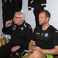 St Johnstone v Motherwell.....19.05.13      SPL<br /> Alan Mannus rests up in the dressing room with Tommy Campbell<br /> Picture by Graeme Hart.<br /> Copyright Perthshire Picture Agency<br /> Tel: 01738 623350  Mobile: 07990 594431