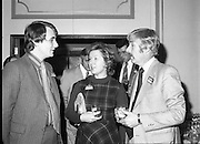 24/01/1979.01/24/1979.24th January 1979.Hirsch International launching of Soda Stream at the Burlington Hotel, Dublin. Pictured at the launch of SodaStream in Ireland from L-R, Mr David Waller, Valerie McGovern and Mr Ian Leask.