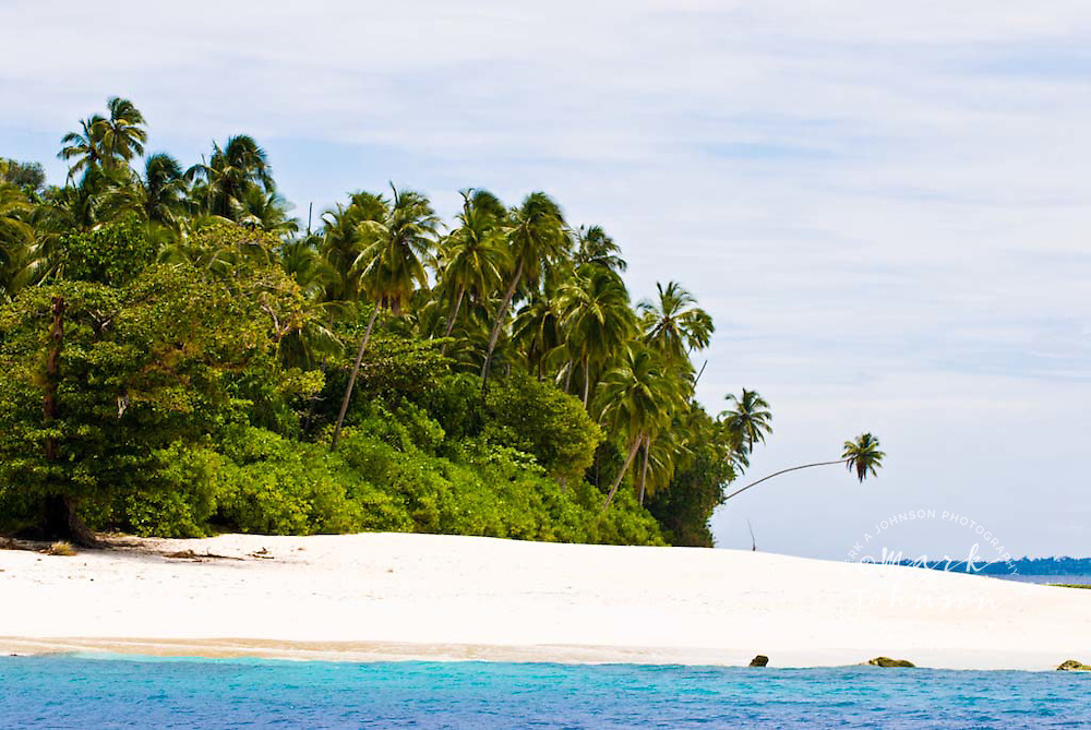 Beach on Pulau Saumang, Mentawai Islands, Indonesia