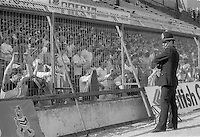Fencing at Leppings Lane stand at Hillsborough. Sheffield Wednesday vs West Bromwich Albion 26.10.86