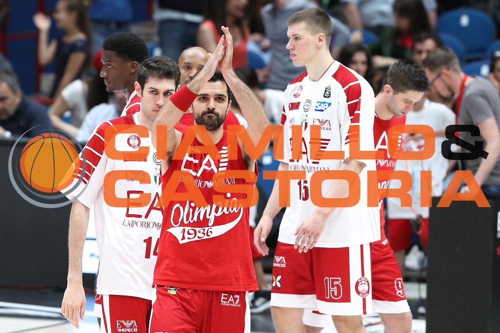 Simon Krunoslav, EA7 Emporio Armani Milano vs Capo d'Orlando LBA Serie A Playoff gara 2 stagione 2016/2017 Mediolanum Forum Assago, Milano 14 maggio 2017
