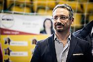 Melfi, Basilicata, Italia, 21/05/2016<br /> L'europarlamentare del Movimento 5 Stelle, Piernicola Pedicini<br /> <br /> Melfi, Basilicata, Italia, 21/05/2016<br /> The Member of European Parliament, Piernicola Pedicini (Five Star Movement)