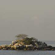 Island of rock on the bay. Acapulco, Guerrero. Mexico.