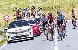 10.07.2019, Fuscher Törl, AUT, Ö-Tour, Österreich Radrundfahrt, 4. Etappe, von Radstadt nach Fuscher Törl (103,5 km), im Bild v.l.: Thibault Guernalec (Arkea Samsic, FRA), Johannes Schinnagel (Maloja Pushbikers, GER), Alexis Guerin (Delko Marseille Provence, FRA) // during 4th stage from Radstadt to Fuscher Törl (103,5 km) of the 2019 Tour of Austria. Fuscher Törl, Austria on 2019/07/10. EXPA Pictures © 2019, PhotoCredit: EXPA/ JFK