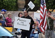 About 6,000 people marched in the La Gran Marcha on May 1, 2010, to Armory Park in Tucson, Arizona, USA. The focus of the march was the protest of the controversial bill SB1070 that takes aim at illegal immigration.  About 25 supporters of the bill gathered across from Armory Park.