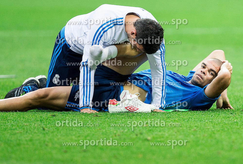 Pepe during training session of Real Madrid (ESP) ahead of their UEFA Champions League final against Atlético (ESP), on May 27, 2016 in San Siro Stadium, Milan, Italy. Photo by Vid Ponikvar / Sportida
