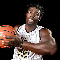 Forward Staphon Blair poses during the Knights media day event at the University of Central Florida CFE Arena on Monday, October 7, 2013 in Orlando, Florida. (AP Photo/Alex Menendez)