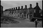 View of Belfast Barricades - Falls Rd, Clonard, bombay st, nationalists, homes burned,  <br /> 30/08/1969