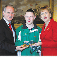 8 November 2007; William Loughnane, from Clooney, Co. Clare, a TEAM Ireland member, who attended a reception in Aras an Uachtarain hosted by President Mary McAleese and Dr. Martin McAleese, to celebrate their triumphs at the 2007 Special Olympics World Summer Games, held recently in Shanghai, China. Aras an Uachtarain, Phoenix Park, Dublin. Picture credit: Ray McManus / SPORTSFILE