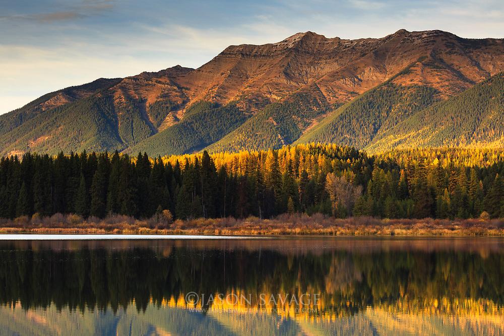 Reflections on Rainy Lake, Montana.