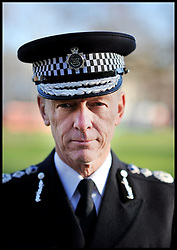Portrait of the Met Police Commssioner, Bernard Hogan-Howe in Shepherd's Bush, London, as the Mayor launches UK's first Office for Policing and Crime. Monday January 16, 2011 Photo By Andrew Parsons/ I-Images