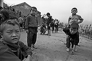 Vietnam, Sapa: children of ... minorities playng during the brake at school.