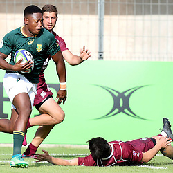 Wandisile Simelane of South Africa during the U20 World Championship match between South Africa and Georgia on May 30, 2018 in Perpignan, France. (Photo by Manuel Blondeau/Icon Sport)