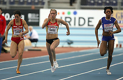 Maria Amparo Cotan of Espania, Verena Sailer of Germany and Lina Jacques-Sebastien of France at the qualification of 60m women at the 2nd day of  European Athletics Indoor Championships Torino 2009 (6th - 8th March), at Oval Lingotto Stadium,  Torino, Italy, on March 6, 2009. (Photo by Vid Ponikvar / Sportida)