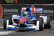 DURBAN, South Africa, Oliver Jarvis of Team Great Britain bouncing thru the chicane and clocking 1:19.207 for 3rd position during the Friday practice sessions held as part of the A1GP race weekend in Durban, South Africa on Friday 22 February 2008. Photo: SportsPics/SPORTZPICS