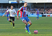Crystal Palace Glenn Murray on the ball during the The FA Cup Third Round match between Dover Athletic and Crystal Palace at Crabble Athletic Ground, Dover, United Kingdom on 4 January 2015. Photo by Phil Duncan.