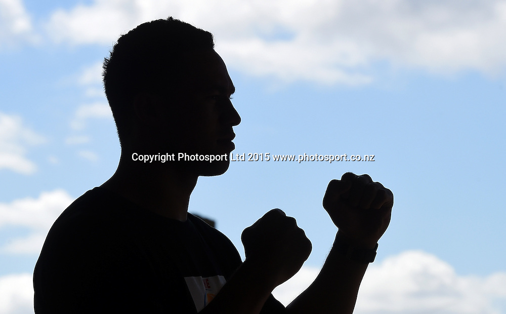 Heavyweight Boxer Joseph Parker during a press conference for the Burger King Road to the Title fight scheduled for March. Auckland, New Zealand. Tuesday 6 January 2015. Copyright photo: Andrew Cornaga/www.photosport.co.nz