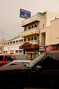 Hotel Regis is located in Nogales, Sonora, Mexico, near the border wall at Nogales, Arizona, USA.
