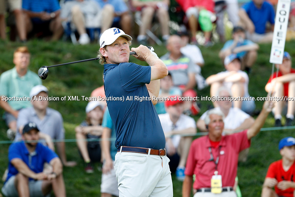 CROMWELL, CT - JUNE 23: Brandt Snedeker during the second round of the Travelers Championship on June 23, 2017, at TPC River Highlands in Cromwell, Connecticut. (Photo by Fred Kfoury III/Icon Sportswire)