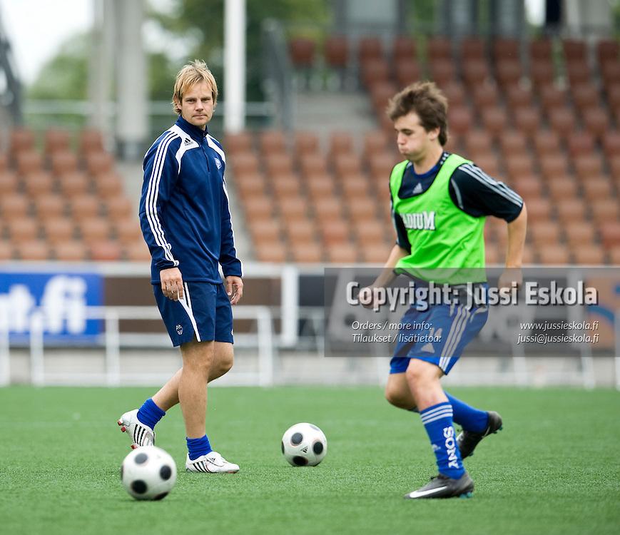 Juho Rantala. Harjoitukset, Klubi-04. 26.8.2008. Photo: Jussi Eskola