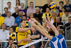 Bartosz Kurek of Belchatow  at 1st Semifinal match of CEV Indesit Champions League FINAL FOUR tournament between PGE Skra Belchatow, Poland and Dinamo Moscow, Russia, on May 1, 2010, at Arena Atlas, Lodz, Poland. (Photo by Vid Ponikvar / Sportida)