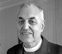 Rev Thomas Patterson, aka Rev Tom Patterson, Moderator, Presbyterian Church in Ireland, 1977-1978. Father of Rev Ruth Patterson first woman to be ordained in Ireland. 197701070007<br /> <br /> Copyright Image from Victor Patterson, 54 Dorchester Park, Belfast, UK, BT9 6RJ<br /> <br /> Tel: +44 28 9066 1296<br /> Mob: +44 7802 353836<br /> Voicemail +44 20 8816 7153<br /> Skype: victorpattersonbelfast<br /> Email: victor@victorpatterson.com<br /> Email: victorpatterson@me.com (back-up)<br /> <br /> IMPORTANT: If you wish to use this image or any other of my images please go to www.victorpatterson.com and click on the Terms & Conditions. Then contact me by email or phone with the reference number(s) of the image(s) concerned.