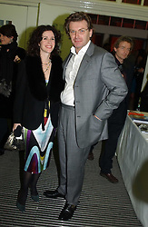 MOLLIE DENT-BROCKLEHURST and her husband DUNCAN WARD at the Art Plus Dance Party 2005 - an evening of live dance, film and partying held at the Whitechapel Art Gallery, 80-82 Whitechapel High Street, London on 21st March 2005.<br />