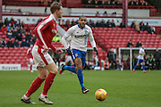 Leon Clarke (Bury) during the Sky Bet League 1 match between Barnsley and Bury at Oakwell, Barnsley, England on 7 February 2016. Photo by Mark Doherty.