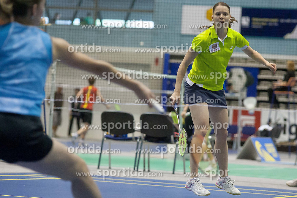 Maja Tvrdy of Slovenia during match Slovenia Open Badminton tournament 2012, on May 11, 2012, in Medvode, Slovenia. (Photo by Grega Valancic / Sportida.com)