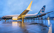 This year's debut of the 737 MAX brought increased production at the Renton plant, but Boeing's total workforce in the state has shrunk. (Mike Siegel / The Seattle Times)