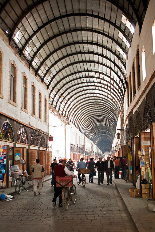 Arched ceiling of the souq, Old City, Damascus