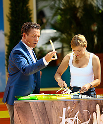 "14.06.2015, Europapark, Rust, GER, ARD TV Show, Immer wieder Sonntags, im Bild Stefanie Haertel und Stefan Mross links, // during the ARD TV Show ""Immer wieder Sonntags"" at the Europapark in Rust, Germany on 2015/06/14. EXPA Pictures © 2015, PhotoCredit: EXPA/ Eibner-Pressefoto/ Goermer<br /> <br /> *****ATTENTION - OUT of GER*****"