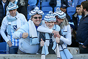 Coventry City fans during the The FA Cup match between Brighton and Hove Albion and Coventry City at the American Express Community Stadium, Brighton and Hove, England on 17 February 2018. Picture by Phil Duncan.
