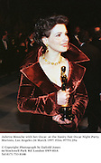 Juliette Binoche with her Oscar  at the Vanity Fair Oscar Night Party. 1997 Mortons, Los Angeles 24 March 1997<br />© Copyright Photograph by Dafydd Jones97751/29a<br />66 Stockwell Park Rd. London SW9 0DA<br />Tel 0171 733 0108
