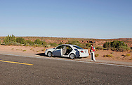 US-MEXICAN HAT: A break from driving. PHOTO GERRIT DE HEUS