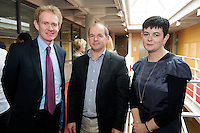 Dr. Manus Moloney, Nenagh, Mr. Martin Caldwell, Sligo and Dr. Maeve Skelly, Limerick at the Clinical Science Building UCHG. Photo:Andrew Downes