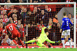 Mamadou Sakho of Liverpool scores his sides second goal  - Mandatory by-line: Matt McNulty/JMP - 20/04/2016 - FOOTBALL - Anfield - Liverpool, England - Liverpool v Everton - Barclays Premier League