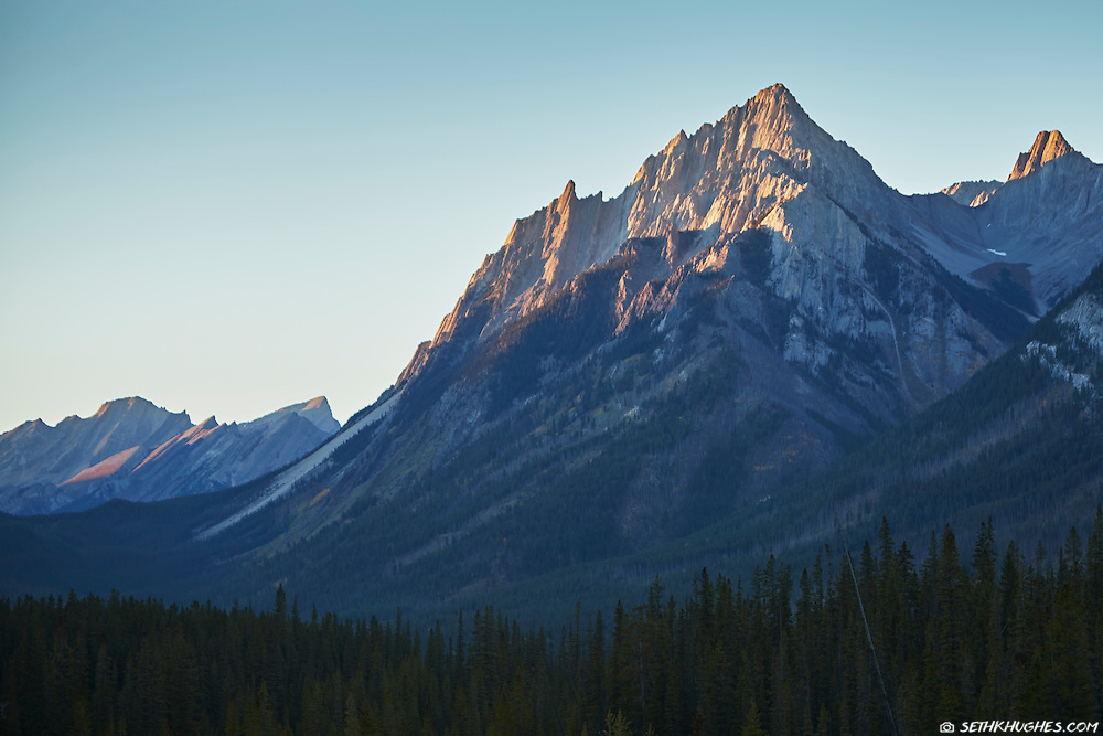 A jagged Rocky Mountain slope in Banff National Park, Alberta, Canada.