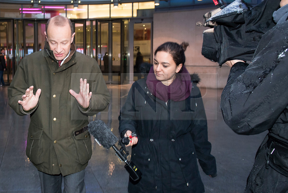 © Licensed to London News Pictures. 15/01/2018. London, UK. UKIP party leader HENRY BOLTON (left) is seen leaving BBC Broadcasting House in London following interviews. Mr Bolton is under pressure after his partner, glamour model Jo Marney, wrote offensive text messages to friend. She has been suspended from the party. Photo credit: Ben Cawthra/LNP