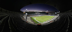 A Panoramic view of The Free State Stadium, also known as Vodacom Park, is a stadium in Bloemfontein, South Africa. A venue for the FIFA Confederations Cup South Africa 2009 tournament and the FIFA 2010 South Africa World Cup.