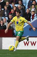 Picture by Paul Chesterton/Focus Images Ltd.  07904 640267.5/11/11.Wes Hoolahan of Norwich in action during the Barclays Premier League match at Villa Park stadium, Birmingham.
