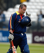 London, GREAT BRITAIN,  James HAMBLIN, returns to the Pavillion, during the MCC vs Europe Match at Lords Cricket ground, England on Thur 07.06.2007  [Photo, Peter Spurrier/Intersport-images].....