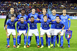 Team Italy photo<br /> Football friendly match Italy vs England u21<br /> Ferrara Italy November 15, 2018<br /> Photo by Filippo Rubin