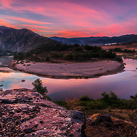 Meander on the Arda river at dawn