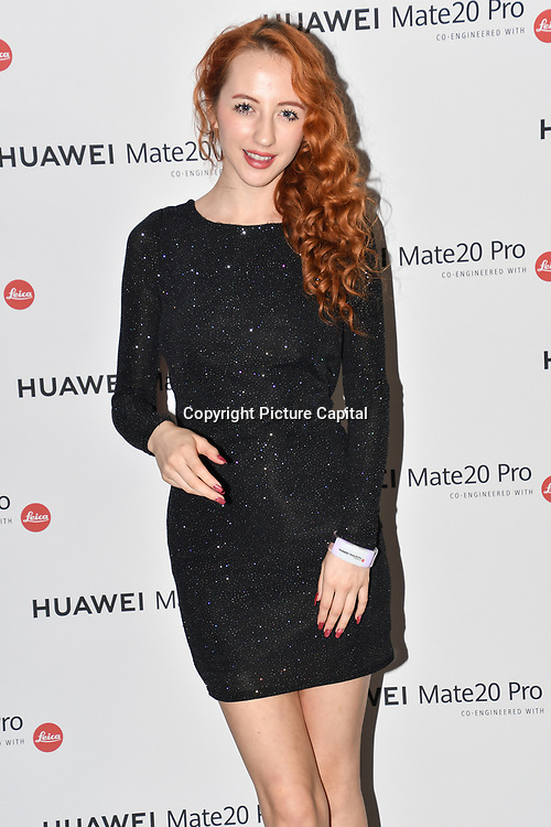 Beckii Cruel is a singer attend Huawei - VIP celebration at One Marylebone London, UK. 16 October 2018.