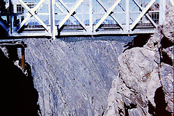 Colorado - Royal Gorge and Bridge,  circa 1960<br /> <br />  Photos taken by George Look.  Image started as a color slide.